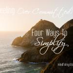 four ways to simplify